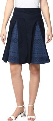 SbuyS Solid Women's Regular Blue Skirt