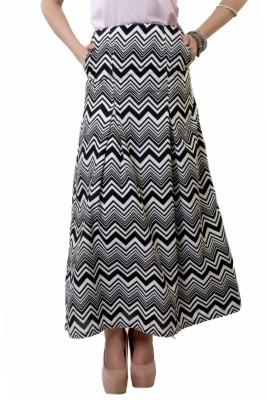 Belle Fille Chevron Women's A-line Multicolor Skirt