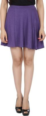 Zachi Solid Women's Straight Purple Skirt at flipkart