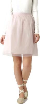 Dressberry Solid Women's A-line Pink Skirt at flipkart