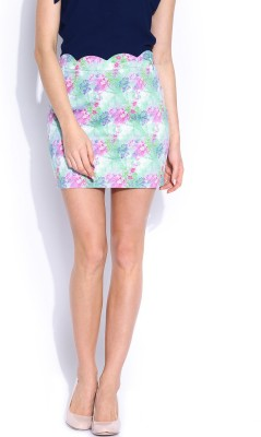 Mast & Harbour Printed Women's Pencil Multicolor Skirt at flipkart