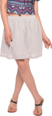 Vvoguish Solid Women's Gathered White Skirt