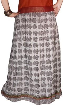 Selfi Printed Women's Regular White Skirt