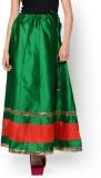Hoor Solid Women's A-line Green Skirt