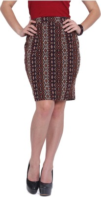Pera Doce Printed Women's A-line Multicolor Skirt