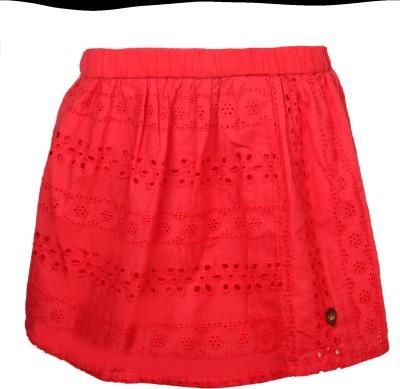 Vitamins Solid Girl's Regular Red Skirt