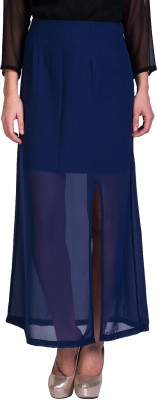 Sugar Her Solid Women's A-line Blue Skirt