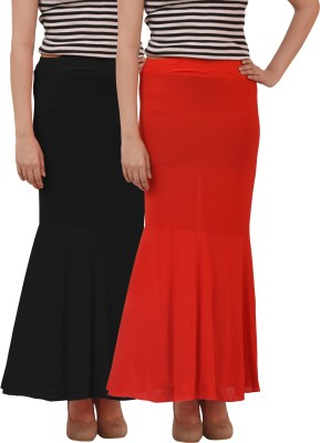 carrol Solid Girl's Regular Black, Red Skirt