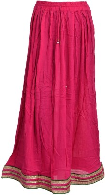 Freedom Daisy Solid Women's Regular Pink Skirt