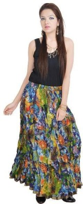 Navya Creations Printed Women's Straight Multicolor Skirt