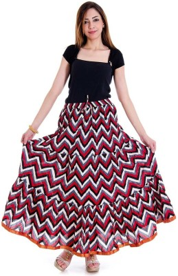 Ambika Ecommerce Self Design Women's Regular Multicolor Skirt