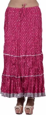 Jaipur Kala Kendra Printed Women's Regular Pink Skirt