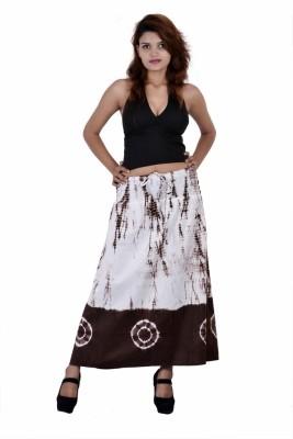 Jaipur Kala Kendra Self Design Women's Regular Brown Skirt