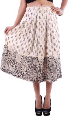 Goodwill Impex Printed Women's A-line Beige Skirt
