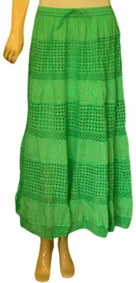 Acceptable Trading Co. Self Design Women's Regular Green Skirt