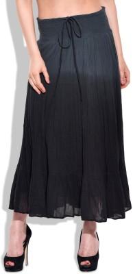Eves Pret A Porter Solid Women's A-line Black Skirt