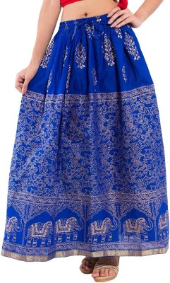 Decot Paradise Animal Print Womens Regular Blue Skirt