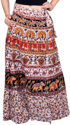 Decot Paradise Printed Women's Regular Multicolor Skirt