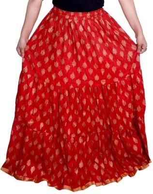 Decot Paradise Printed Women's Regular Red Skirt