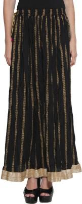 Panit Printed Women's Gathered Black Skirt