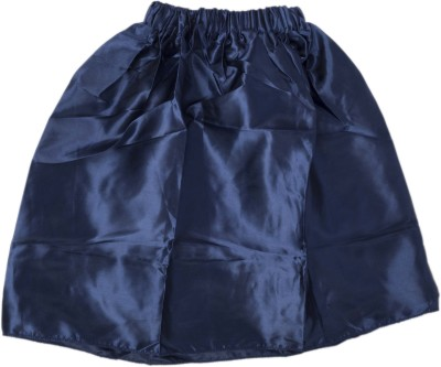 Funky Baby Solid Girl's A-line Blue Skirt