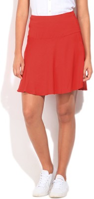 United Colors of Benetton Solid Women's Tube Red Skirt at flipkart