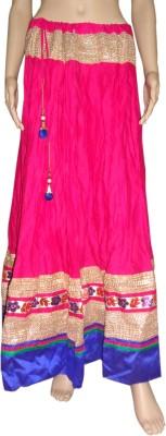 Pinkcityvilla Solid Women's Regular Maroon Skirt