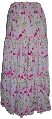 B VOS Self Design Women's Regular Pink Skirt
