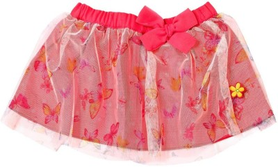 Mom & Me Printed Baby Girl,s Pleated Multicolor Skirt