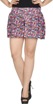 Modimania Floral Print Women's Gathered Multicolor Skirt