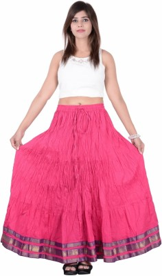 Jaipur Kala Kendra Solid Women's Regular Pink Skirt