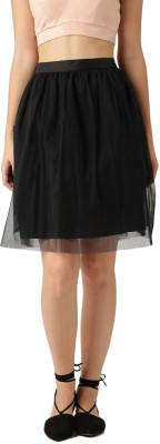 Dressberry Solid Women's A-line Black Skirt at flipkart