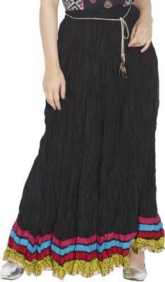 Globus Solid Women's Broomstick Black Skirt