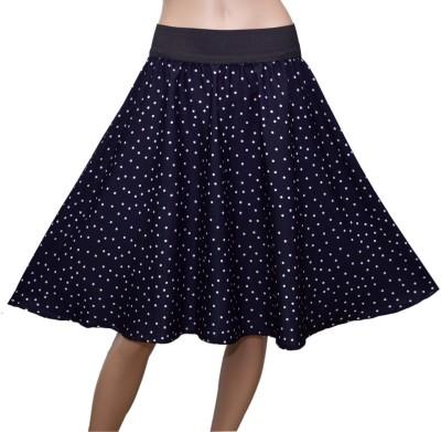 GraceDiva Polka Print Women's Gathered Blue, White Skirt