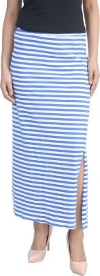 Shopdayz Striped Women's Straight Pink, White Skirt