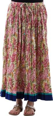 Aarr Floral Print Women's A-line Multicolor Skirt