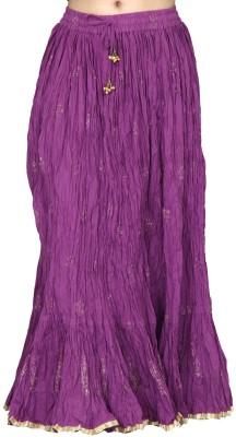 Chhipaprints Printed Women's Regular Purple Skirt