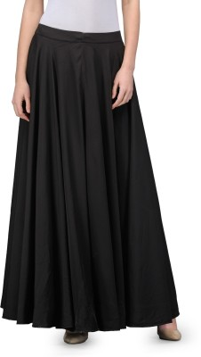 Just Wow Solid Women's A-line Black Skirt