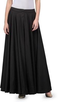 Fashionwalk Solid Women's A-line Black Skirt