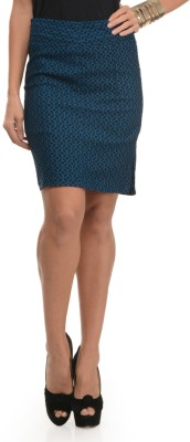Mayra Printed Women's Tube Blue Skirt