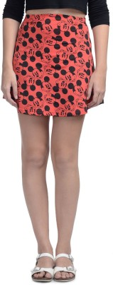 Mickey & Friends Printed Women's Regular Red Skirt