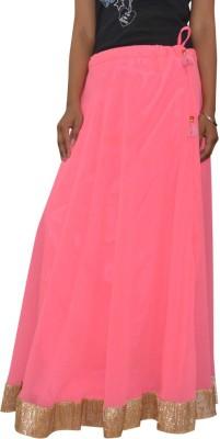 Shreeka Solid Women's Regular Pink, Gold Skirt