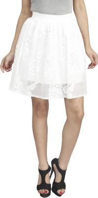 Naitik Solid Women's Regular White Skirt