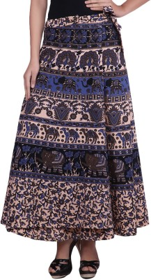 fashionmandi Floral Print Women's Wrap Around Multicolor Skirt