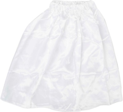 Funky Baby Solid Girl's A-line White Skirt
