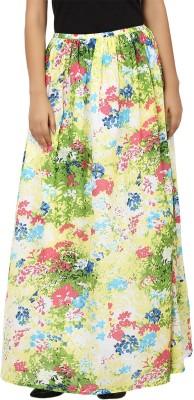 Tops and Tunics Floral Print Women's Regular Yellow, Green Skirt