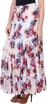 14forty Printed Women's Regular White Skirt