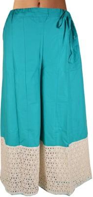 Shopatplaces Solid Women's Regular Blue Skirt