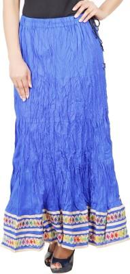 Adaab Solid Women's Regular Blue Skirt