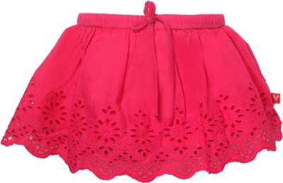 Vitamins Embroidered Girl's Regular Pink Skirt